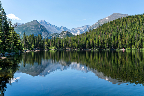 Lake and mountains in Rocky Mountain National Park, Colorado
