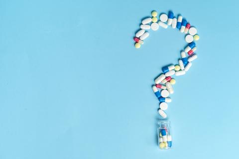 Pills shaped like question mark