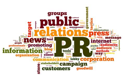 PR/public relations word cloud