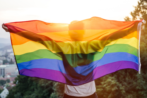 Pride flag from Getty Images