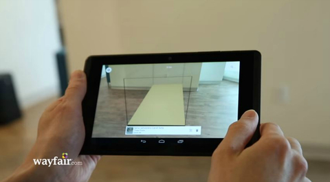 Wayfair augmented reality app
