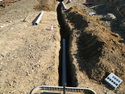 trench dug for fiber