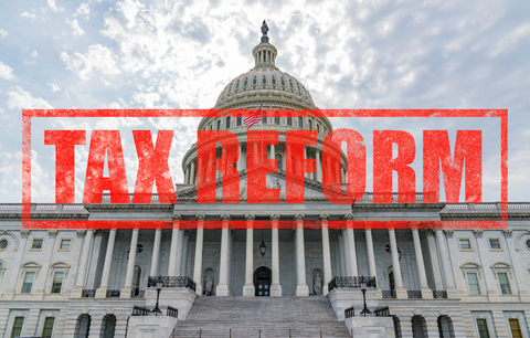 Capitol building with Tax Reform text