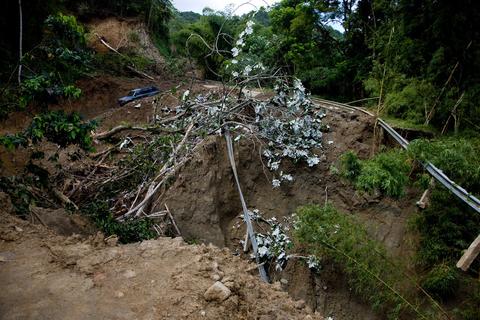 Hurricane damage in Puerto Rico