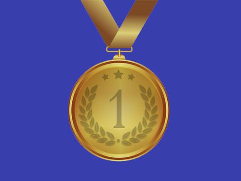 Medal with blue background (Pixabay)