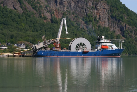 underwater cable ship