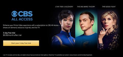 CBS Amazon Channels