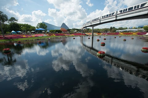 Monorail at Epcot in Walt Disney World