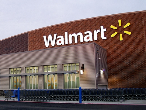 Walmart building with logo