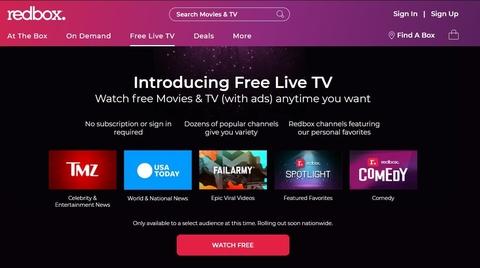 Redbox Free Live TV