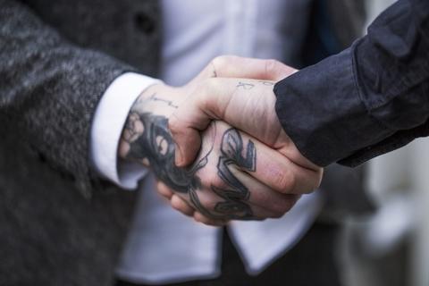 tattoo handshake