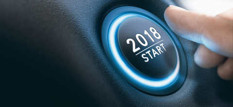 Start button with 2018