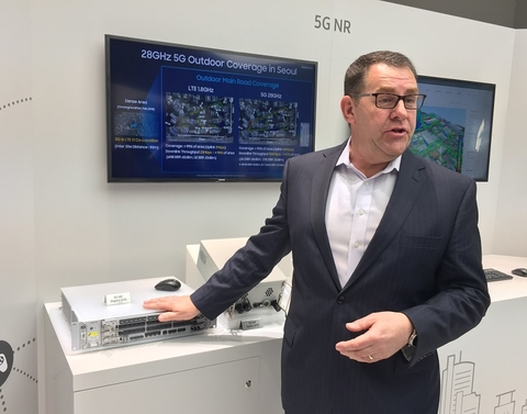 Samsung's Lyle Nyffeler with Sprint baseband (Mike Dano/FierceWireless)