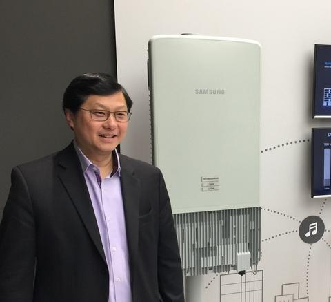 Sprint John Saw with Samsung antenna/radio unit (Mike Dano/FierceWireless)