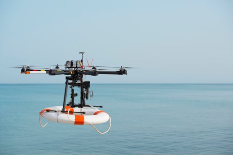 Drones have helped rescue at least 65 people in the past 12 months (Image RuslanDashinsky / iStockPhoto)