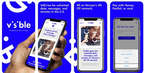 Visible, the new Verizon prepaid brand, isn't very visible