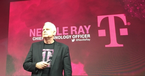 T-Mobile CTO Neville Ray at MWC (Mike Dano/FierceWireless)