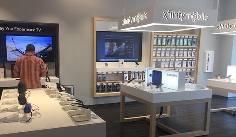 Comcast Xfinity Mobile store display