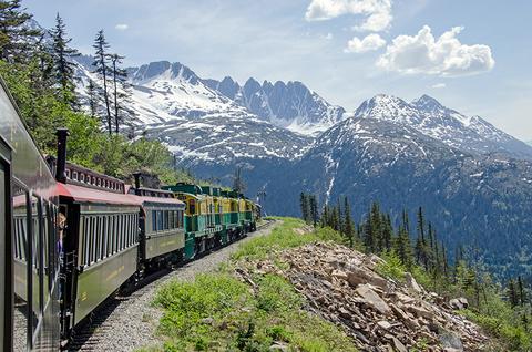 train in Yukon Canada