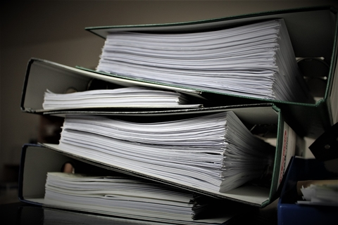 Files with paperwork