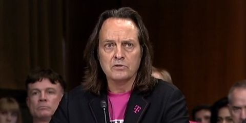 T-Mobile CEO John Legere at Senate hearing (Mike Dano / FierceWireless)