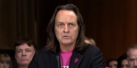 T-Mobile CEO John Legere at Senate hearing (Mike Dano / FierceWireless)