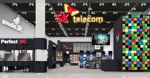 SK Telecom booth at MWC18