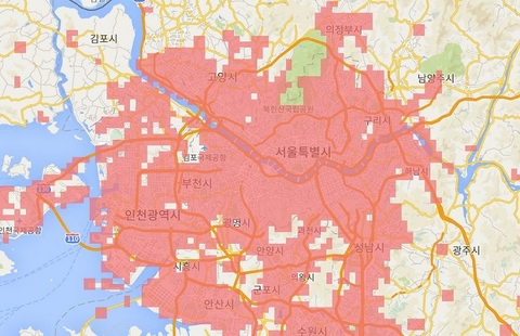 KT Corp claims world's first with 'nationwide' 5G network, unlimited  G Coverage Map on