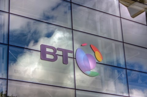 BT logo building