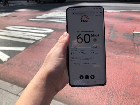 Sprint 5G NYC speed test