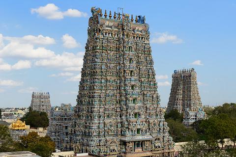 Meenakshi Sundareswarar Temple in Madurai, Tamil Nadu, India