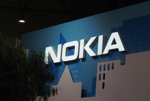 Nokia sign at MWC18