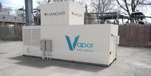 Vapor IO's Edge Module with Hangar's drone box (Vapor IO)