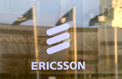 Ericsson logo on building