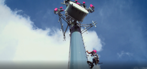T-Mobile tower climb