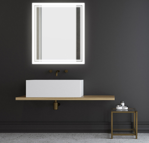 Séura Select lighted mirrors utilize sustainable LED lighting with over 85 color rendering index (CRI) and 3,000 Kelvin color temperature for a natural light color.