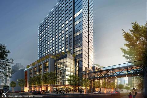 Nichols Brosch Wurst Wolfe & Associates, Champalimaud Design team up for luxury Marriott hotel at $3B Water Street Tampa project.