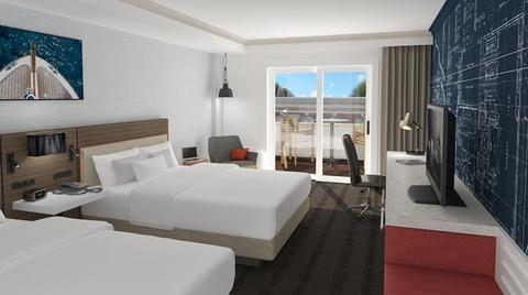 a guestroom at the hilton garden inn annapolis downtown photo credit hilton - The Hilton Garden Inn