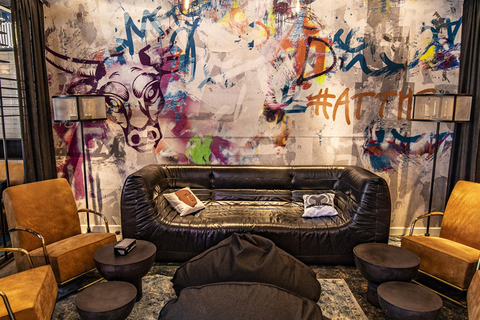 Chicago's River North opens city's first Moxy Hotel designed by Flick Mars and DLR Group.