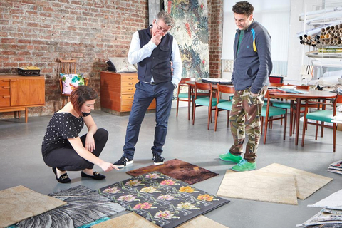 Scottish design duo Timorous Beasties presented their third collection with Brintons.