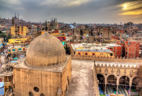 View of Cairo from roof of Amir al-Maridani mosque