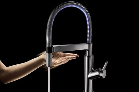Solenta Senso is a faucet that responds with a simple passing wave.
