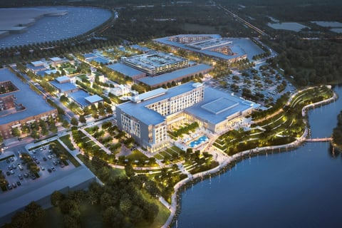 Gensler designs conference center hotel in Katy Boardwalk District, a new lakefront destination in Katy, Texas.