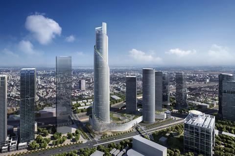 Moshe Tzur, James von Klemperer help design The Spiral Tower, which eyes to open as Israel's tallest tower.