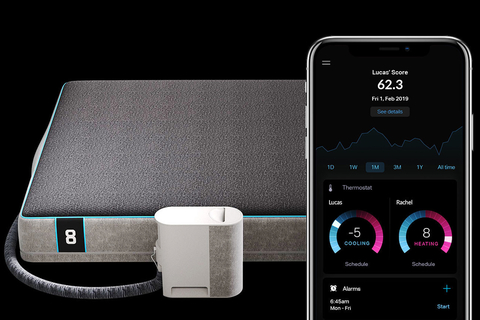 Eight Sleep unveiled the Pod, a high-tech bed that combines temperature regulation (between 55 and 115 degrees Fahrenheit), biometric tracking, smart home integrations and sleep coaching.