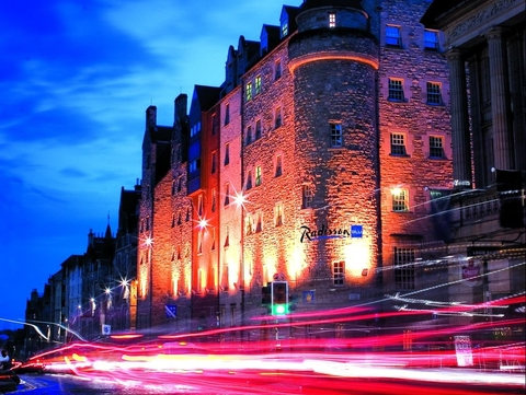 The Radisson Blu hotel in Edinburgh, Scotland