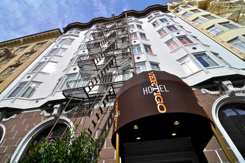 The front exterior of Hotel Vertigo