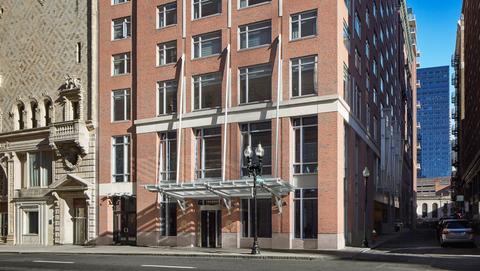 The front exterior of the Kimpton Nine Zero Hotel