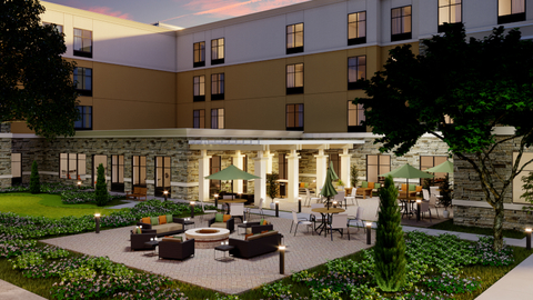 Rendering of Homewood Suites by Hilton Poughkeepsie