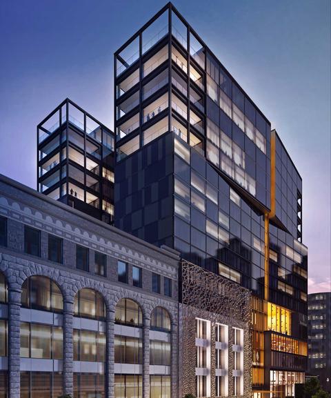 Atelier Zébulon Perron designs Marcus in new Four Seasons Hotel Montreal.